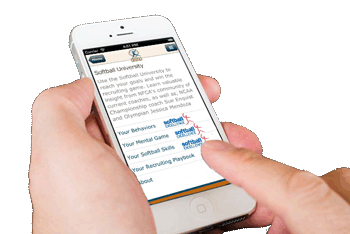 NFCA Softball Recruiting app has educational content provided by Softball Excellence