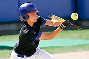 Fastpitch Softball Free Article on better bunting in fastpitch softball reach early and catch late
